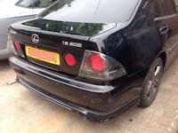 Lexus is200 black 2o2 bumper + lip skirt 98-05 breaking spares is 200 is300 TTE TRD AERO BODY KIT