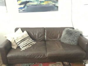 Modern genuine leather couch- best offer