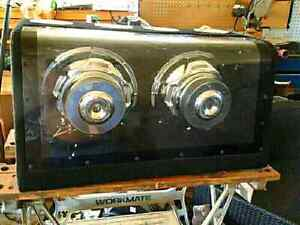 """Dual 10"""" Boxed Subs in ported box."""