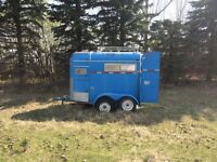 Older 2 horse bumper hitch trailer