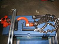 RIGID PIPE CUTTER AND PIPE THREADER