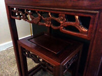 4 piece nesting tables -- cherry wood
