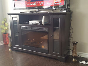 55' lcd tv with stand and fireplace