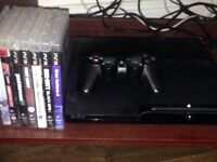 PS3 with 7 games and 1 controller