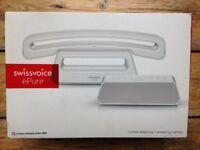Designer landline telephone handset and answerphone. Brand new Swiss Voice ePure