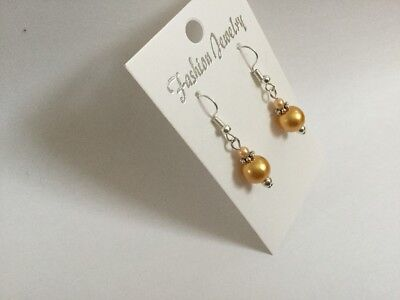 Pretty Gold Colour Bridesmaid Earrings Affordable Wedding Gift Favour - Affordable Wedding Favors