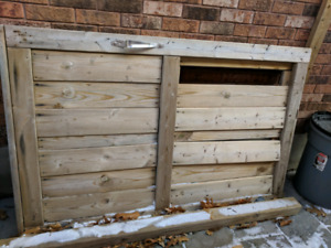 Wooden gate door - for the fireplace?