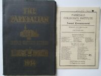 Parkdale Collegiate Institute Yearbook and Commencement program