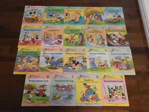 1990 Mickey's Young Reader Library Complete Set of 19 Disney