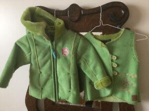 Manteau et veste fillette 2 ans printemps, automne