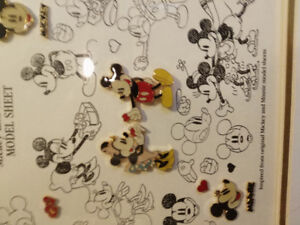 Mickey and Minnie model sheet limited edition