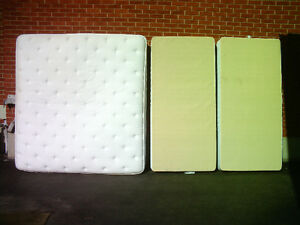 WHITE,SEALY POSTUREPEDIC,KING SIZE MATTRESS&2BOXSPRINGS,I DELIVR
