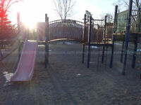 Various Pieces of Playground Equipment