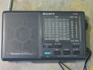 Vintage SONY ICF-SW15 Pocket World 9Band shortwave RADIO Receive