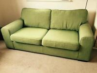 Green two seats sofa
