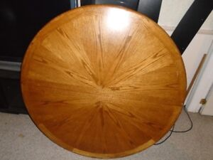 "48"" round oak table top"