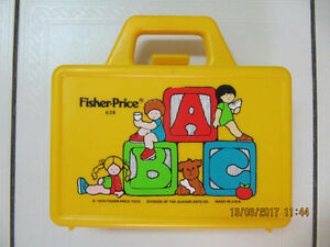 Classic FisherPrice Model 638 ChildsPlasticLunch Pail Circa 1979