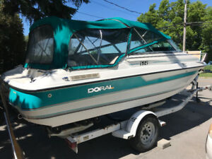 Doral 20 ft inboard boat with cabin