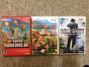 Wii Games and Memory Card