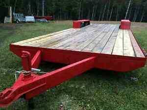 18 x 7 foot flat bed trailer.