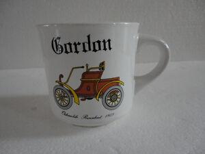 VINTAGE COLLECTIBLE GORDON OLDSMOBILE RUNABOUT 1903 COFFEE MUG