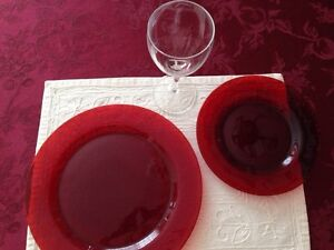 Red Glass Dishes