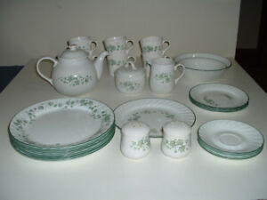 Piecemeal Sale of Callaway (Corelle) Green Leaves/Vines
