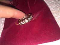 Cartier ring 18k Rose gold plated with Swarovski zirconia crystals