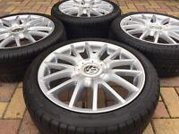 """Genuine 17"""" VW Golf GT TDi MK5 GTi R32 Alloy wheels Tyres Audi A3 Seat Leon"""