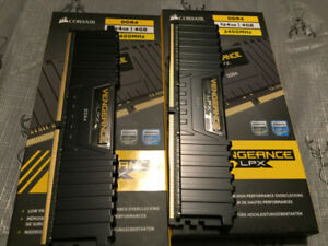 Corsair Vengeance LPX DDR4 2400 CL14 2x4Gb RAM Memory