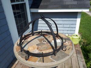 Wrought Iron hanging pot rack