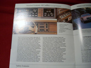 1982 Cadillac sales brochure Peterborough Peterborough Area image 5