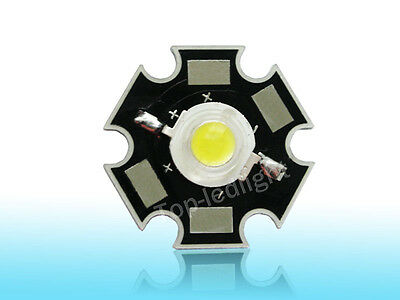 5pcs 3w Cool White 8000k High Power Star Led Light Lamp For Aquariumtank