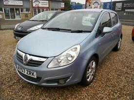 2007 Vauxhall Corsa 1.4i 16v ( a/c ) Club 5Dr Blue Low Ins Immaculate Condition