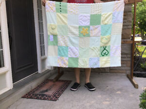 """Sew quite quilts"" offering hand made repurposed chenille Quilts"