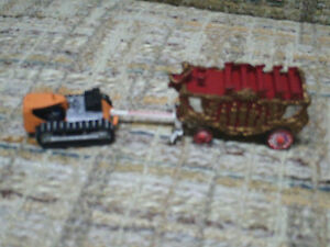 HO scale tractor and circus wagon for electric model trains