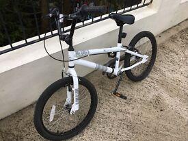 BMX style white bike