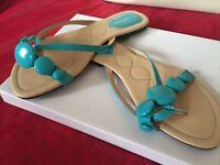 New stunning size 6 turquoise sandal
