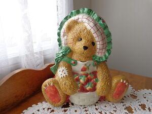 CHERISHED TEDDIES COOKIE JAR STRAWBERRY 161306