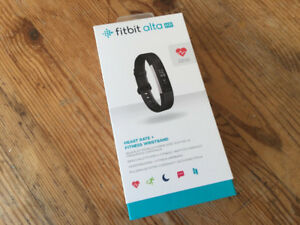 fitbit alta hr new black small