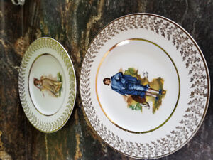 Blue Boy and Pinky plates