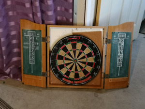 Mounted Dart Board