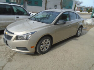 $9,495.00   2012 Chevrolet Cruze LS,  Low KMS!
