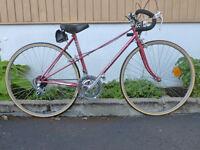 vélo de route vintage précision pneus neuf mise au point
