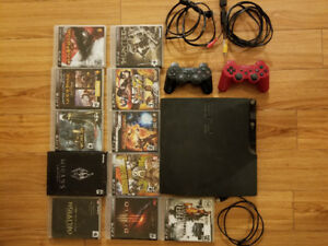 PlayStation 3, 11 Games, 2 Controllers