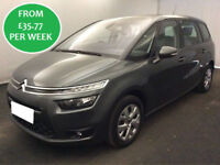 £155.14 PER MONTH CITROEN GRAND C4 PICASSO 1.6 E-HDi VTR+ MPV 7 SEATS MANUAL