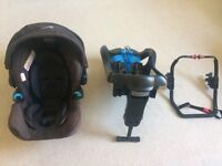 Infant car seat with base and pram adaptor