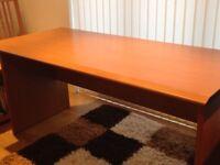 Large sturdy cherrywood effect veneer desk