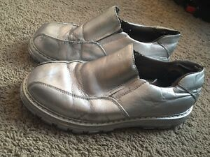 Mens Silver Shoes for Halloween Costume Sz 8