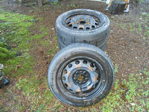 4 tires with steel rims
